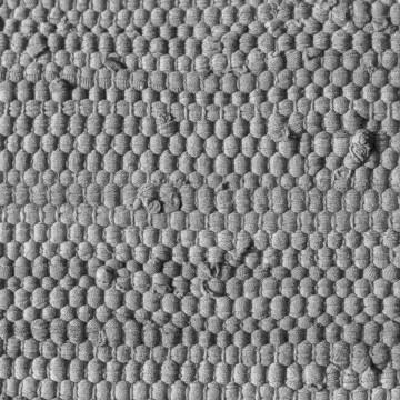 tapis coton gris clair upcyclé