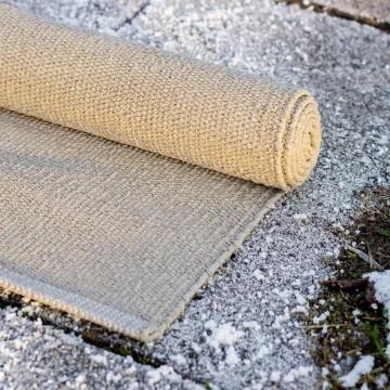 tapis beige en plastique recyclé